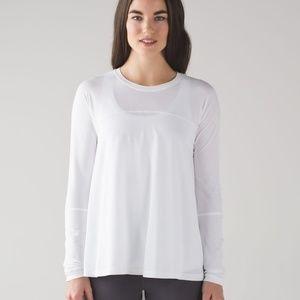 NWOT White Lululemon Acadia Longsleeve